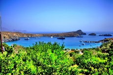 Let a Villa - main beach of Lindos